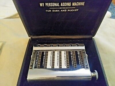 "Authentic Gem Adding Machine ""My Personal Adding Machine"" Vintage Collectible"