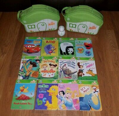 Leap Frog TAG Junior Lot - Reader, 12 Board Books, Carrying Cases Learn to Read