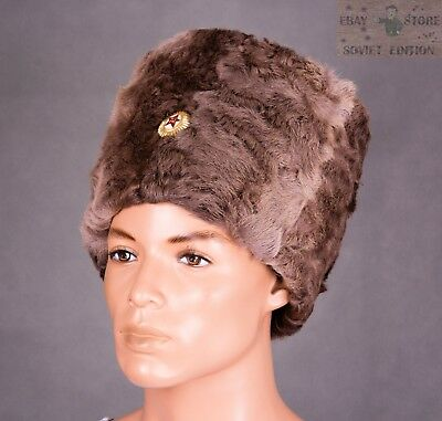 Papakha Cossack Hat Sheepskin fur Size 7 3/4US (62см) USSR Red Army Russian Cap