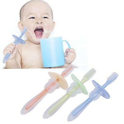 Baby Infants Kids Safe Soft Bendable Teether Training Teeth Toothbrush Brush kim