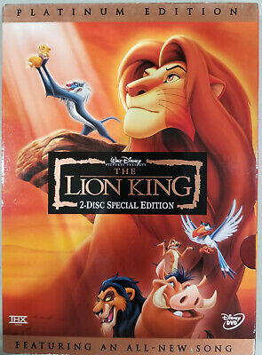The Lion King (DVD Platinum 2 Disc Set) With Slip Cover *Very Good Condition*
