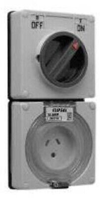 Clipsal SWITCHED SOCKET CLI56C310LLEWW 230V 10A 3-Pin 1-Pole Less Enclosure