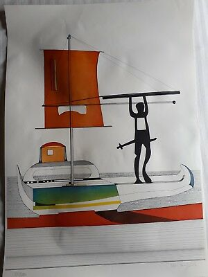 """Nils Haglund, Lithograph """"The Viking"""", Hand Signed, Numbered, 1982"""