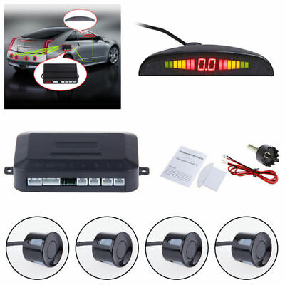 4 Parking Sensors Car  Radar Sound Alert System LED Display Reversing Backup