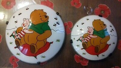 Coppia n.2 plafoniere per bambini whinni the pooh