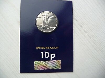 2018 10p A-Z Early Strike New BU Coin in Certified Pack, Collectable - T Tea.