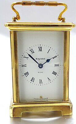 Art Deco Bayard French 8 Days Carriage Clock. Visible Escapements.