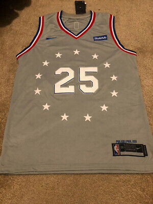 BEN SIMMONS 25 Rocky Grey City Edition Philadelphia 76ers Men s Stitched  Jersey f0f64efe5