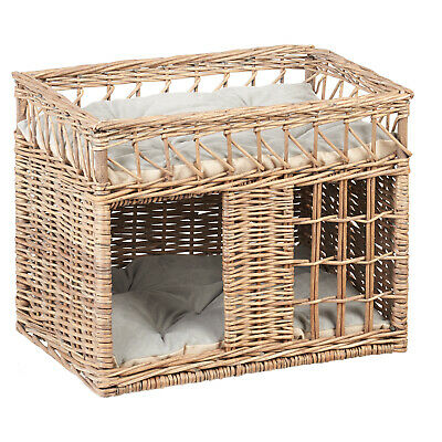 Me & My Pets Wicker Cat/Kitten Play House Bed/Bunk Beds Two Tier Pet Cave Rattan