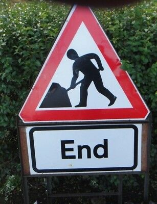 Traffic Management Signs Men At Work End
