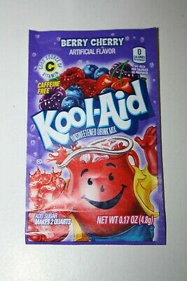 5 x US Kool-Aid Unsweetened Soft Drink Mix BERRY CHERRY Flavor