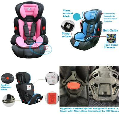 Mcc 3In1 Convertible Baby Child Car Safety Booster Seat Group 1/2/3 9-36 Kg [Pin