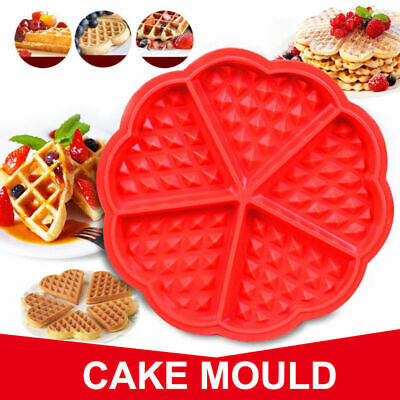 *UK Seller* Silicone Mini Round Waffles Pan Cake Baking Mould Mold Waffle Tray