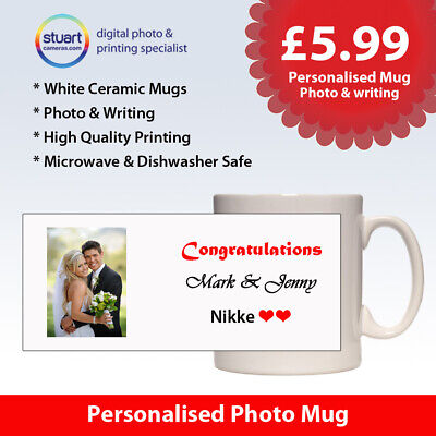 Personalised Photo Mug with Your PHOTO,TEXT,IMAGE + Free Gift Box Tea Coffee Cup