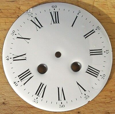 Genuine Antique French Pure White Enamel Clock Dial  ( 1 )