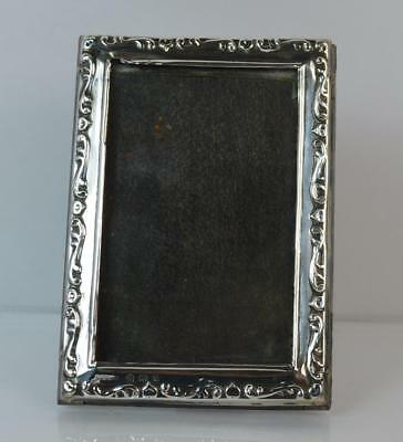 "Antique Sterling Silver Rectangular Photo Frame 1 1/2"" x 2 1/2"""