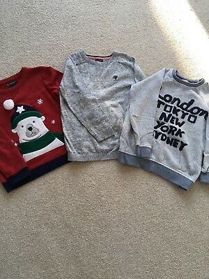 3 X Boys Jumpers, Next, John Lewis & Howick, Ages 5-6
