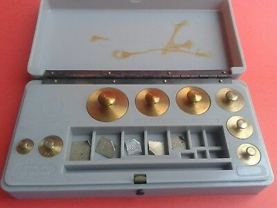 Vintage Weights in Brass 13 pcs.
