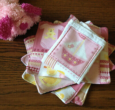 NEW Cloth Baby Wipes Burp Pads Burp Cloths Girl Multicolor Handmade Diaper Kids