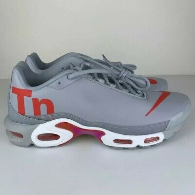 d121eaec095c NEW NIKE AIR Max Plus TN SE AQ1088 001 Wolf Grey Red white -size 8.5 ...