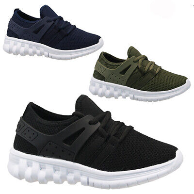 Kids Boys Infant Lace Up Running Smart School Sports Pumps Trainers Shoes Size