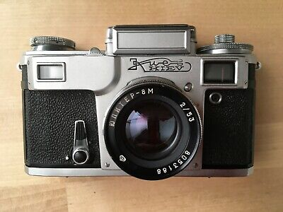 Kiev 4 (Type 4) 35mm film camera with 53mm lens and Case