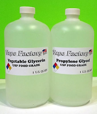 2 Quart Non-Gmo Vegetable Glycerin + Propylene Glycol Usp Food Grade Pg Vg Vape