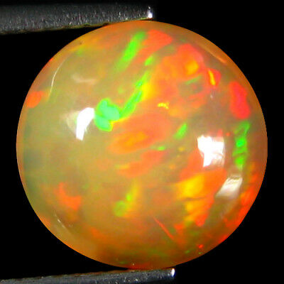 3.20ct 11MM Amazing Fire Sparkling 100%Natural Rainbow Flashing Ethiopia Opal