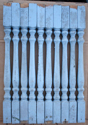 "10 Vintage Antique 24"" Wood Wooden Staircase Stair Rail Spindle Post Baluster"