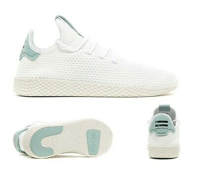 6ff081dce Mens Adidas Pharrell Williams HU White Green Trainers (SF33) RRP £79.99