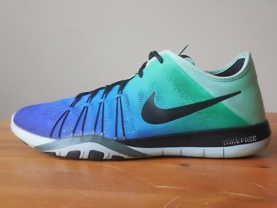 ded0c0981921 Nike Free TR 6 Women s Size 10 Blue Teal White Workout Gym Shoes 849804 300
