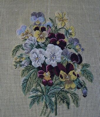 """Woodland Pansies"" - Preworked Needlepoint"