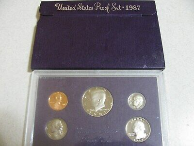 1987-S Proof Set United States US Mint Original Government Packaging Box