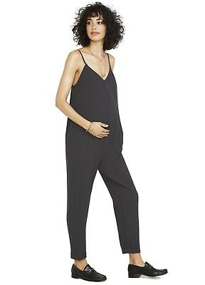 HATCH Maternity Black Georgie Jumper Shapeless Overalls Jumpsuit - size 3