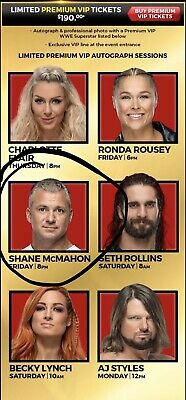 SHANE MCMAHON Premium VIP Wrestlemania Axxess Ticket April 5 6-10pm