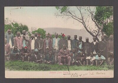 Transvaal RP postcard of Zulu's, sent to England