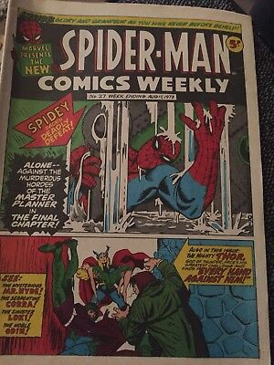 Spider-Man Comics Weekly Issue 27 August 18 1973
