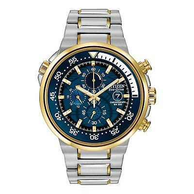 Citizen Eco-Drive Endeavor Men's Chronograph Gold-Tone 46mm Watch CA0444-50L