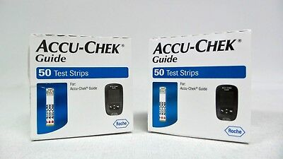 100 Accu-Chek Guide Test Strips Exp 12/2019 -Free Shipping