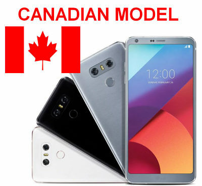LG G6 32GB Black/ Silver Unlocked Canadian Model H873 Smartphone y