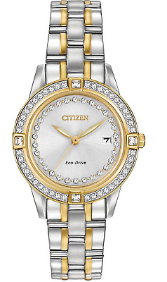 Citizen Eco-Drive Silhouette Women's Crystal Accents 29mm Watch FE1154-57A