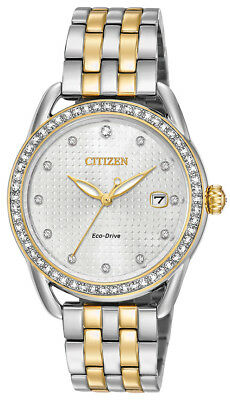 Citizen Eco-Drive Women's LTR Crystal Markers Two-Tone 37mm Watch FE6114-54A