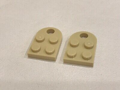 blanc, white 2 x LEGO 3176 Plaque Trou Coupling Plate 2x3 With Hole NEUF NEW