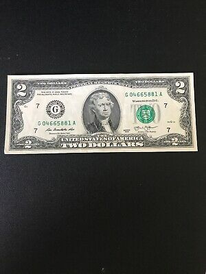 $2 Bill - Two Dollar Bill - Federal Reserve Note 2013