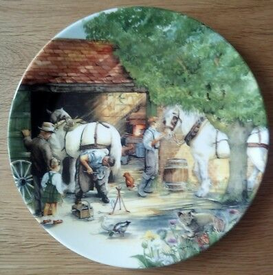 Royal Doulton Collectors Plate The Blacksmith From Old Country Crafts, boxed VGC