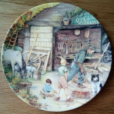Royal Doulton Collector Plate The Wheelwright From Old Country Crafts, boxed VGC