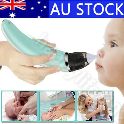 AU! Newborn Baby Nasal Aspirator Electric Nose Cleaner Safe Hygienic Snot Sucker
