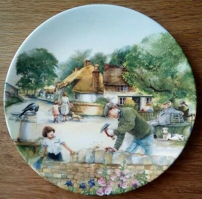 Royal Doulton Collector Plate The Dry-Stone Waller, Old Country Crafts boxed VGC