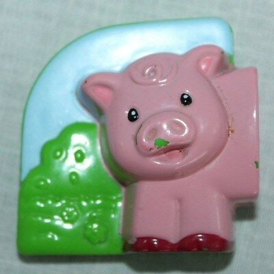LeapFrog Chick Fridge Farm Pig Magnetic Animal Head Front Left Replacement