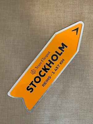 Veuve Clicquot Arrow Collectible Champagne Tin STOCKHOLM Journey Sign
